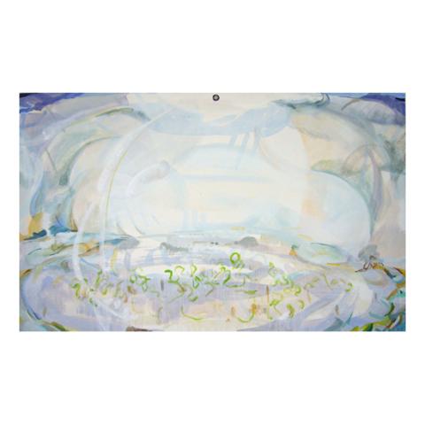 'Ongeziene landschap' Olieverf op doek