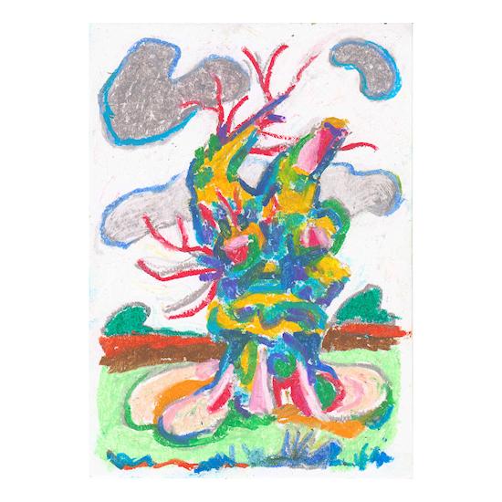 oliepastel tekening
